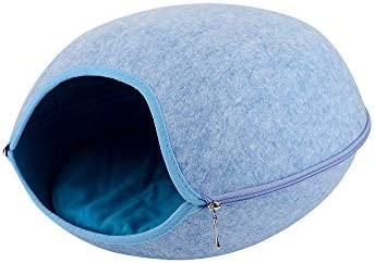 Decdeal Cat Dog Cave Bed Tent House Pet Bed Self Warming Comfortable Cat Cave Bed with Cushion for Cats Kittens Small Dogs Pets