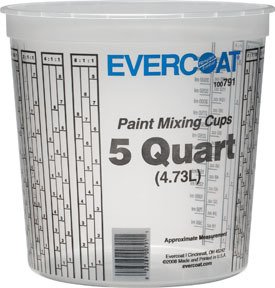 Evercoat 791 5 Quart Paint Mixing Cup, 25 Pack by Evercoat