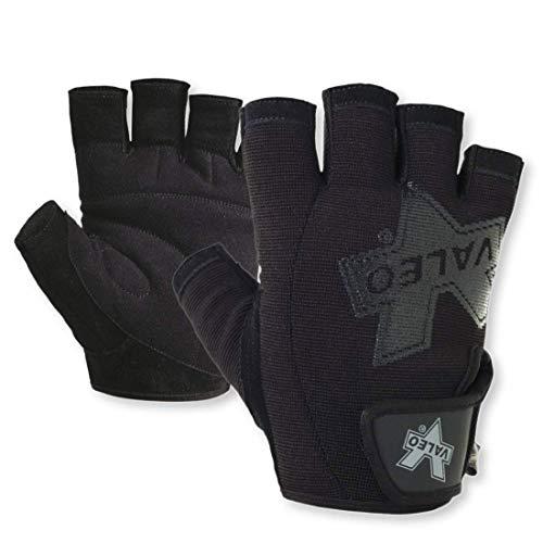 Valeo Industrial V335 Pro-Material Handling/Competition Fingerless Lifting Gloves, VA5149, Pair, Black, XL