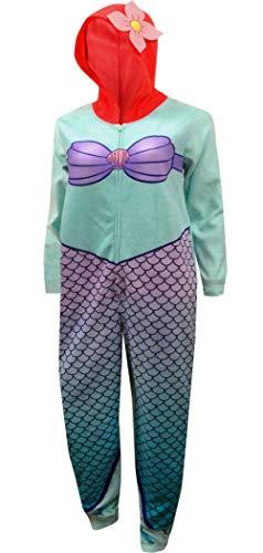 Disney Women's Mermaid Ariel Union Suit, Multi-Colored Large -