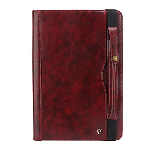 - TechCode Galaxy Tab A 10.1 Cover 2019, Luxury Bookstyle Flip Stand Case PU Leather Smart Case Wallet with Card Slot & Pen Holder for Samsung Galaxy Tab A 10.1 Inch 2019 SM-T510/ SM-T515,Wine Red