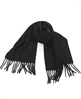 True Cashmere Scarf with free gift box, BLACK