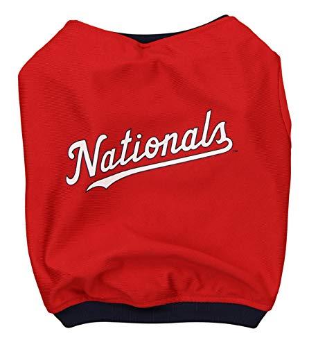 MLB Washington Nationals Baseball Dog Jersey, Small