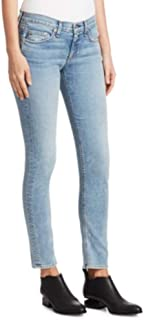 product image for Rag & Bone Light Wash Mid-Rise Super Skinny Stretch Faded Jeans – Double Down
