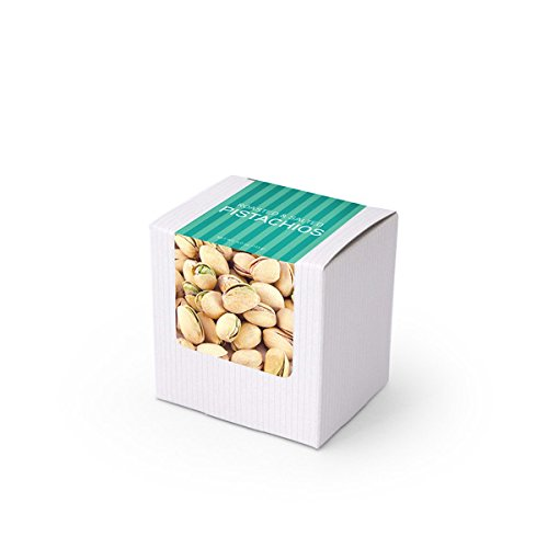 Pistachios, Roasted & Salted, 3'' White Box 48ct/4oz by In-Room Plus, Inc.