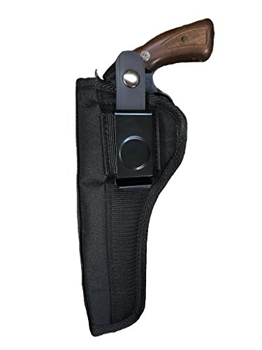 Single Action Revolver Holsters - Nylon Belt or Clip on Gun Holster Fits Ruger Blackhawk, Super Blackhawk, Vaquero, Single Six, Super Single Six, Bisley Vaquero, Redhawk, Old Army (6 Shot) with 5 1/2