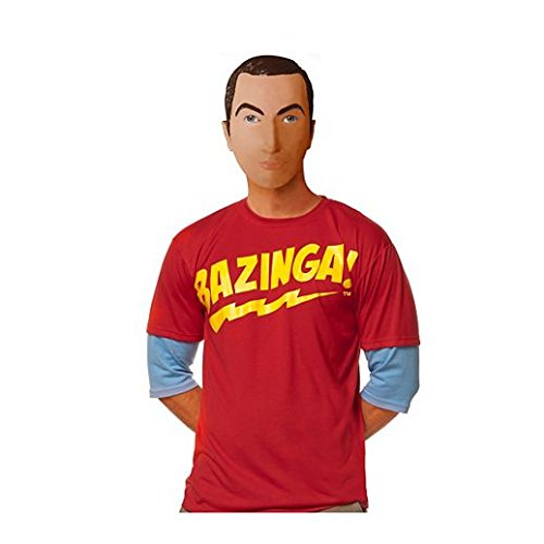 Costume Beautiful Sheldon Mask Big Bang -