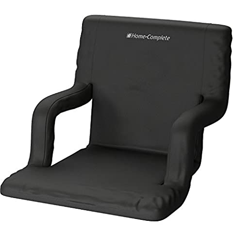 Wide Stadium Seats Chairs for Bleachers or Benches - Enjoy Extra Padded Cushion Backs and Armrests - 6 Reclining Custom Fit Sport Positions - Portable Easy to Carry Straps - State Sling Backpack