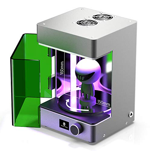 SainSmart Upgraded UV Curing Chamber for SLA/LCD Resin 3D Printer, Curing Volume 150 x 150 x 160 mm