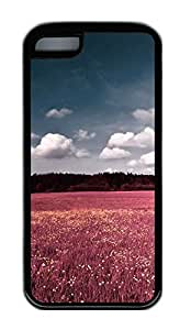 iphone 5C case,custom iphone 5C case,TPU Material,Drop Protection,Shock Absorbent,Customize your own cell phone case pattern,black case,The flowers and the white clouds