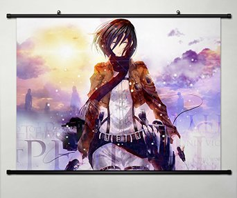 Poster Home Decor Anime Attack On Titan Shingeki No Kyojin Cosplay Wall Scroll Fabric Painting Mikasa Ackerman 31 5 X 23 6 Inches 136