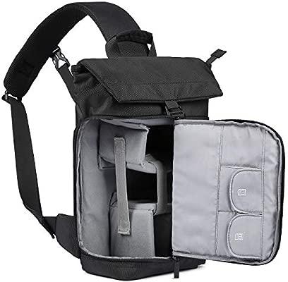 BAGSMART - Bolsa Bandolera para cámara réflex Digital para 1 ...