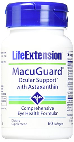 Life Extension Macuguard Ocular Support Plus Astaxanthin with C3G Softgels, 60 Count