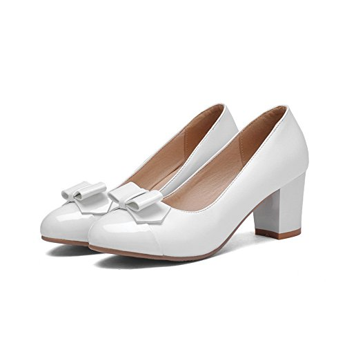 balamasa couleurs imitation cuir assorties shoes High Blanc Mesdames Heels pumps Br5wBU