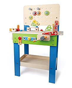 Hape - Early Explorer - Master Workbench Wooden Play Builder Set