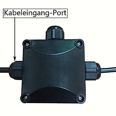Alta definición resistente al agua conectores de cable de sujeción de lata de 3 caja de derivación conector IP68 CE 230 V: Amazon.es: Hogar