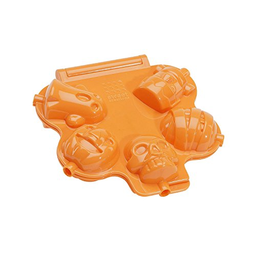 Sweet Creations 5 Cup Halloween Cake Pop Press, Orange -