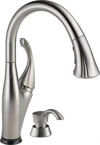 Delta 9192T-SSSD-DST Addison Single-Handle Pull-Down Touch Kitchen Faucet with Touch2O Technology, Magnetic Docking Spray Head and Soap Dispenser, (Delta Soap)
