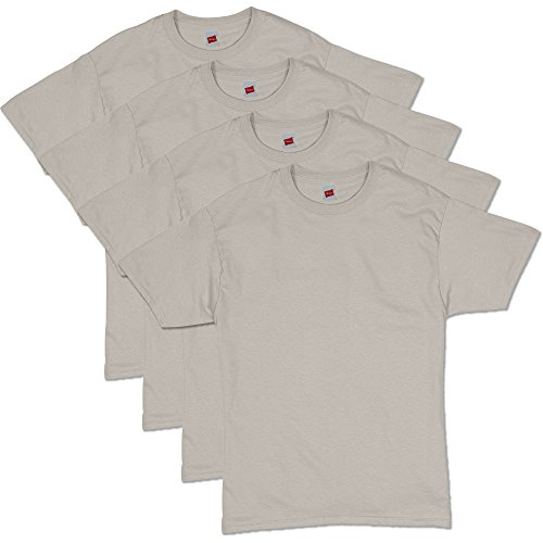 Hanes Men's ComfortSoft T-Shirt (Pack of 4),Sand,X Large