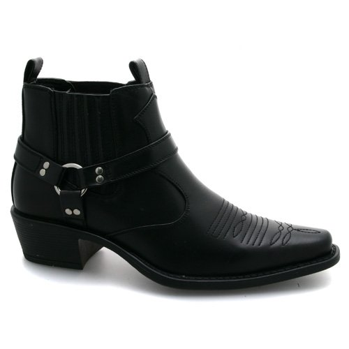 18be643e882d New Mens Black Western Boots UK 12  Amazon.co.uk  Shoes   Bags
