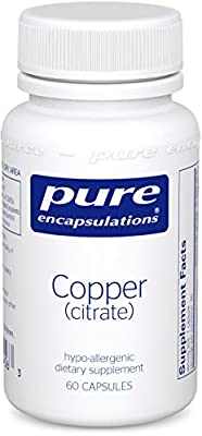 Pure Encapsulations - Copper (Citrate) - 60ct [Health and Beauty]