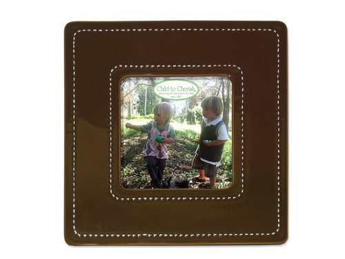 Child to Cherish Large Stitched Ceramic Frame, Brown by Child to Cherish   B0029DO6GA