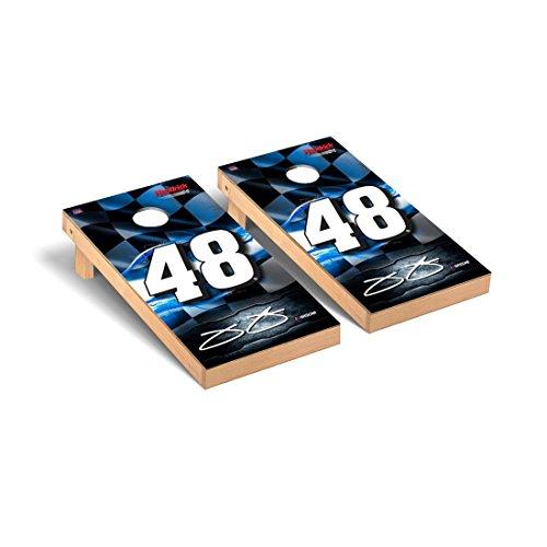 - Victory Tailgate NASCAR Jimmie Johnson #48 Desktop Cornhole Game Set Racing Flag Version