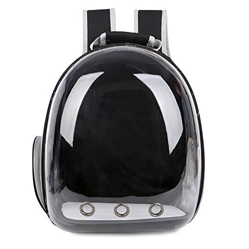 haixclvyE Portable Travel Pet Carrier Backpack Astronaut Breathable Outdoor Bag Cat Pet Rucksack Black