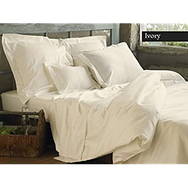 100% Organic Cotton 4pc Bed Bed Sheet Set 800 Thread Count Soft and Luxurious - King , Ivory