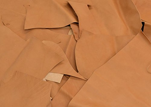 [Veg Tan 3-4 oz Scrap Leather 1 Pound Natural 1/2 - 1 1/2 sq ft pieces Cow hide (bridle: 1)] (Bridle Tan Leather)