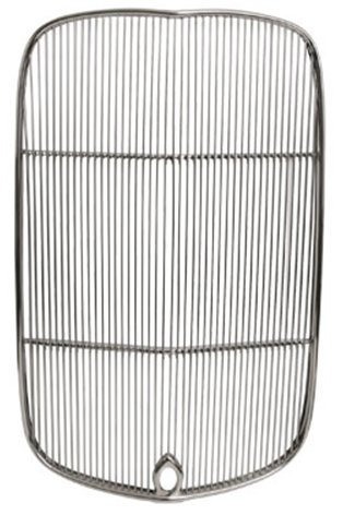 NEW SOUTHWEST SPEED 1932 FORD HI-BOY RADIATOR POLISHED STAINLESS STEEL GRILLE INSERT, ORIGINAL-STYLE GRILL WITH THE CRANK HOLE FOR STREET ROD, HOT ROD, RAT ROD