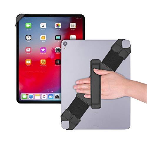 Universal Tablet Hand Strap Holder, Joylink 360 Degrees Swivel Leather Handle Grip with Elastic Belt, Secure & Portable for 12.9