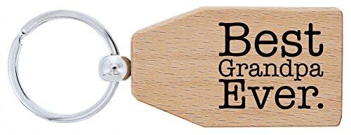 ThisWear Grandpa Best Grandpa Ever Wood Keychain Key Tag Grandpa Gifts