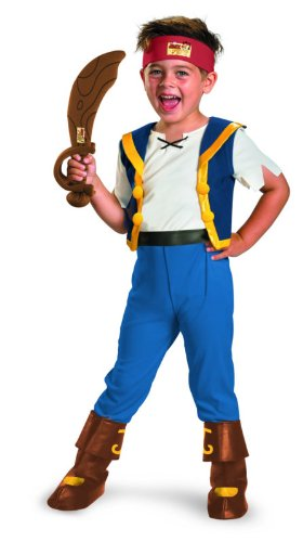 Disney Jake And The Neverland Pirates Jake Deluxe Costume, 2T (Jake Toddler Costume)