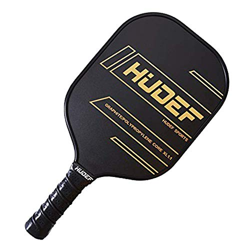 HUDEF Pickleball Paddle, Lightweight Graphite Carbon Fiber Face Pickleball Paddle Racquet Rackets Large Grip Long Handle,Honeycomb Core,Cushion Comfort Grip USAPA Approved