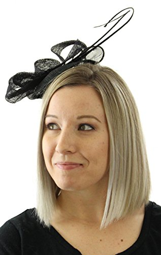 Grace Fascinator Hat Tea Party Derby Wedding Accessory (Black)