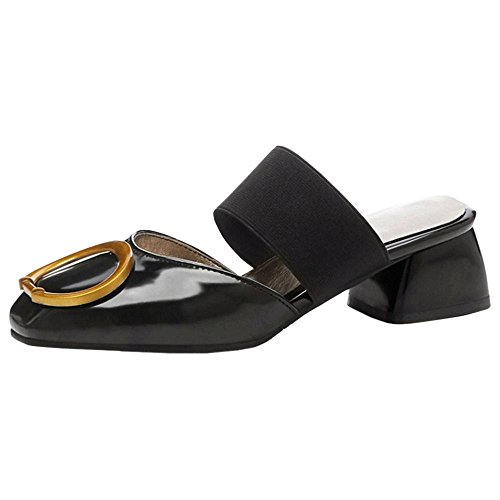 Coolcept Women Summer Closed Toe Mule Sandals Black 3RxUdCiI