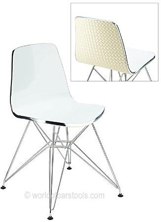 Ultra Modern Acrylic Dining Chair Cream