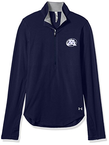 Under Armour NCAA Penn State Nittany Lions Women's Cotton Lightweight 1/4 Zip Tee, Small, Navy