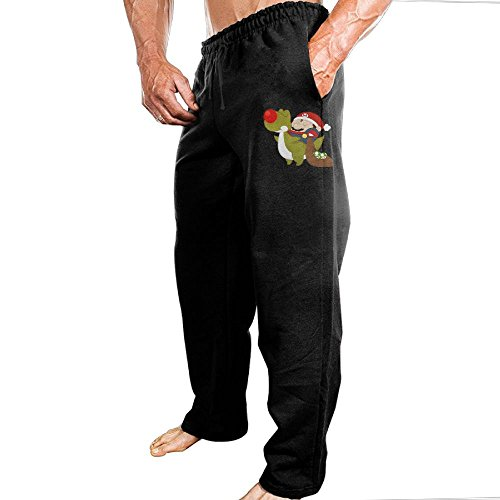 Price comparison product image Mario Christmas Athletic Men's Open Bottom Light Weight Active Basic Urban Jersey Pants Jogger Pants