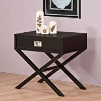Napa Black 1-drawer Bedside Table Bedroom Furniture Nightstand