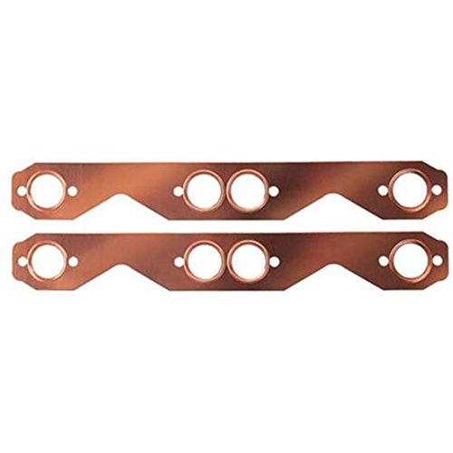 Small Block Fits Chevy Copper Exhaust Gasket, Round -