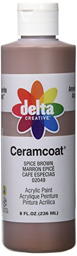 (Delta Creative Ceramcoat Acrylic Paint in Assorted Colors (8 oz), 020498, Spice Brown)