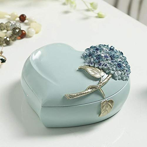 LVV Home Resin Love Hydrangea Jewelry Box/Creative Pastoral Style Ring Storage Box Decoration Birthday Gift by Hotin (Image #1)