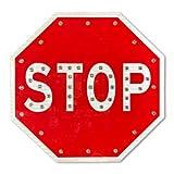 30'' Solar LED Blinking Octagon Stop Sign