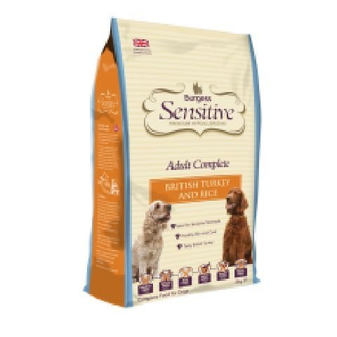 Burgess Sensitive Adult Dog Complete Dry Food Mix Turkey & Rice 2kg by Burgess