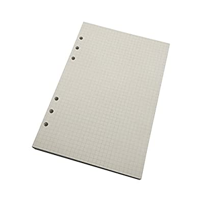 A5 6-Ring Binder/Planner Refill Paper for Filofax, 6 Hole, 90 Sheets/180 Pages, Dot Grid