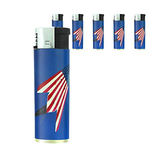 Vintage American Flag Set of 5 Lighters D10 Patriotic Freedom American Heroes Veterans by Perfection In Style