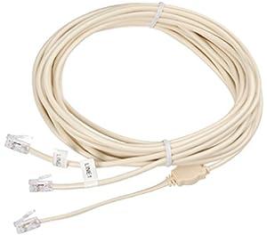 ecs-rj11 2 line phone line 1 line 2 telephone splitter
