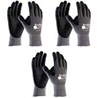 3 Pack 34-874 XXL MaxiFlex Ultimate Nitrile Grip Work Gloves Size XX-Large (3) by Maxiflex
